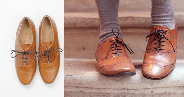 Now in terms of wearing Brogues, don't do them the injustice of pairing them with items that are too flouncy or flirty. Think strong, powerful and playful