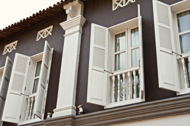 Singapore Colonial style windows - Albert Court
