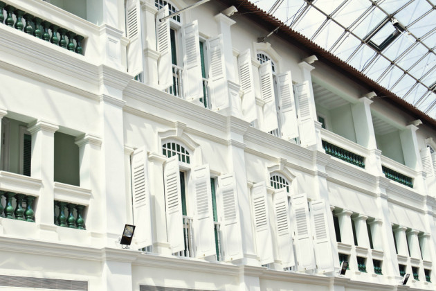 Singapore Colonial style windows - Bugis Junction