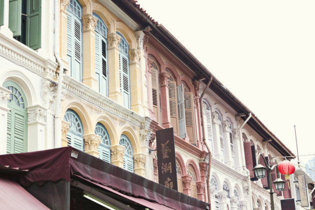 Singapore Colonial style windows - Chinatown