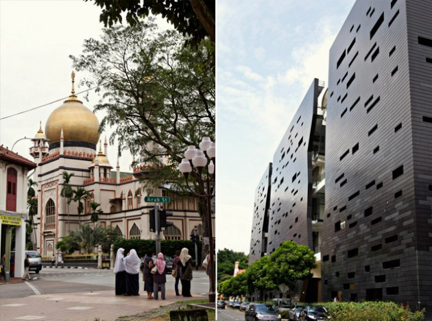 mosque on Arab Street, Singapore; La Salle University, Singapore