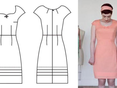 Sewing the Pastille Dress muslin