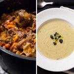 Cauliflower Soup & Braised Ox-tail