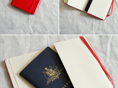DIY Moleskine passport cover