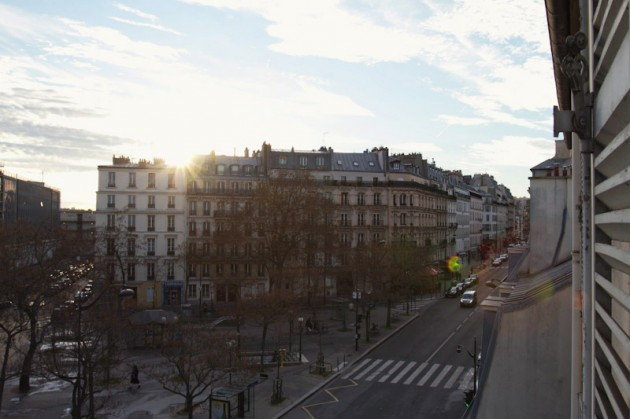 The view from our Parisian apartment