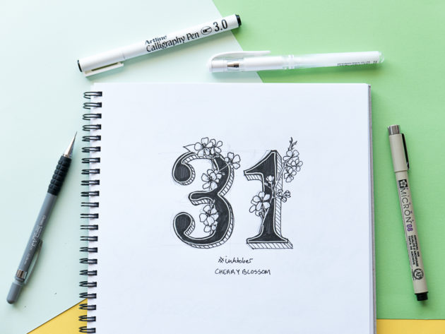 A notepad with illustrated 31
