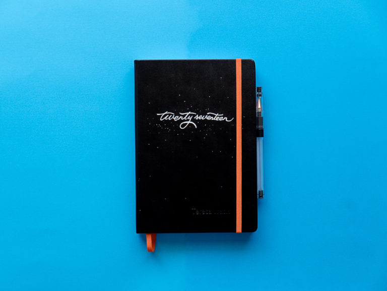 Twenty Seventeen notebook