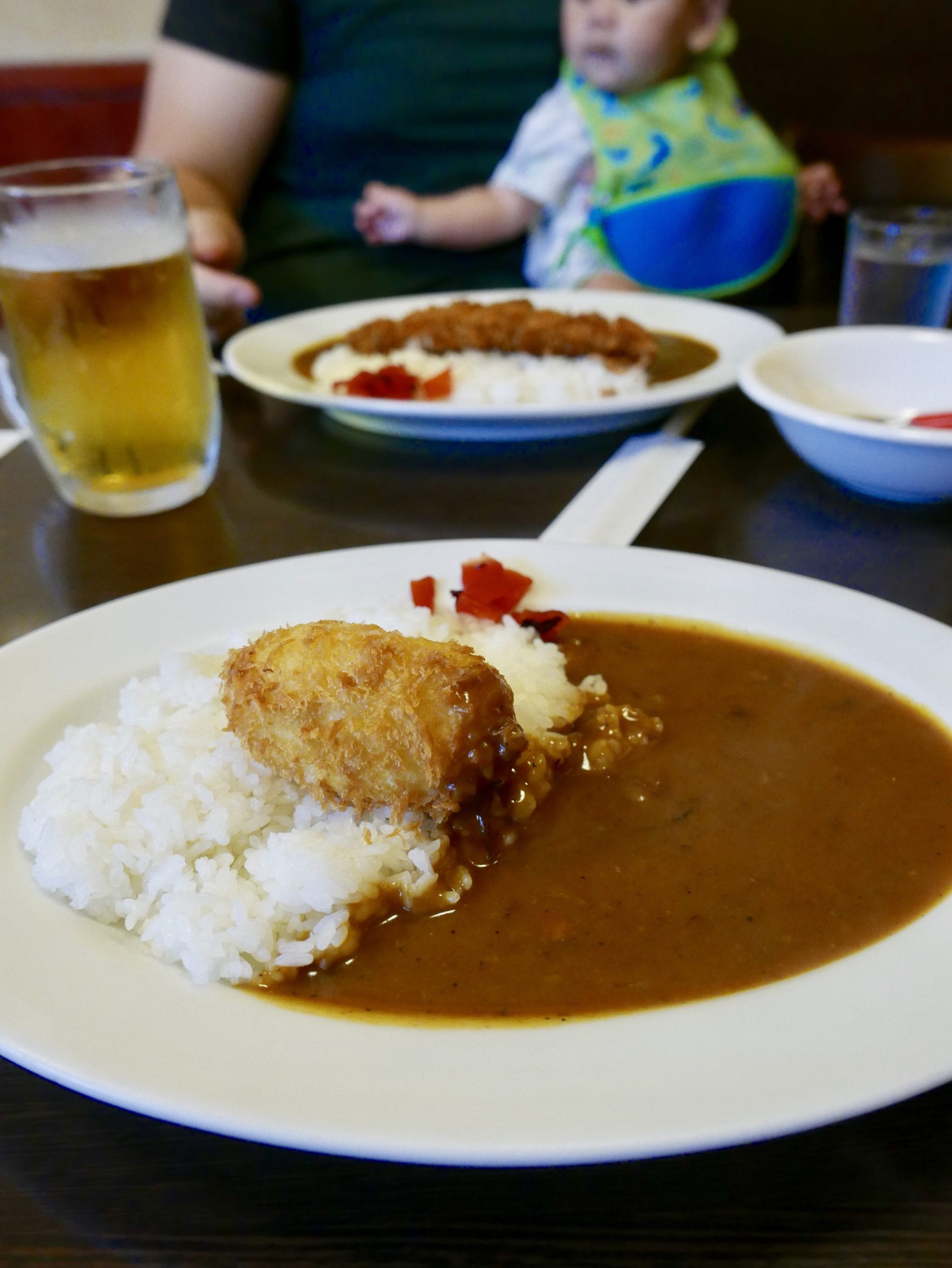 A plate of curry