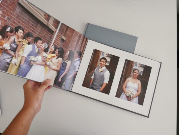 Photo book I printed of our wedding day