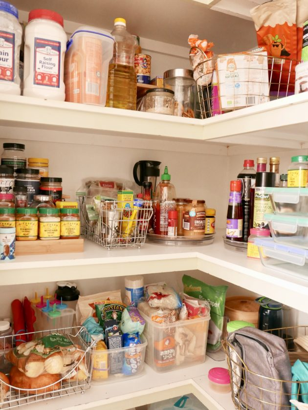 Photo of my nicely organised pantry