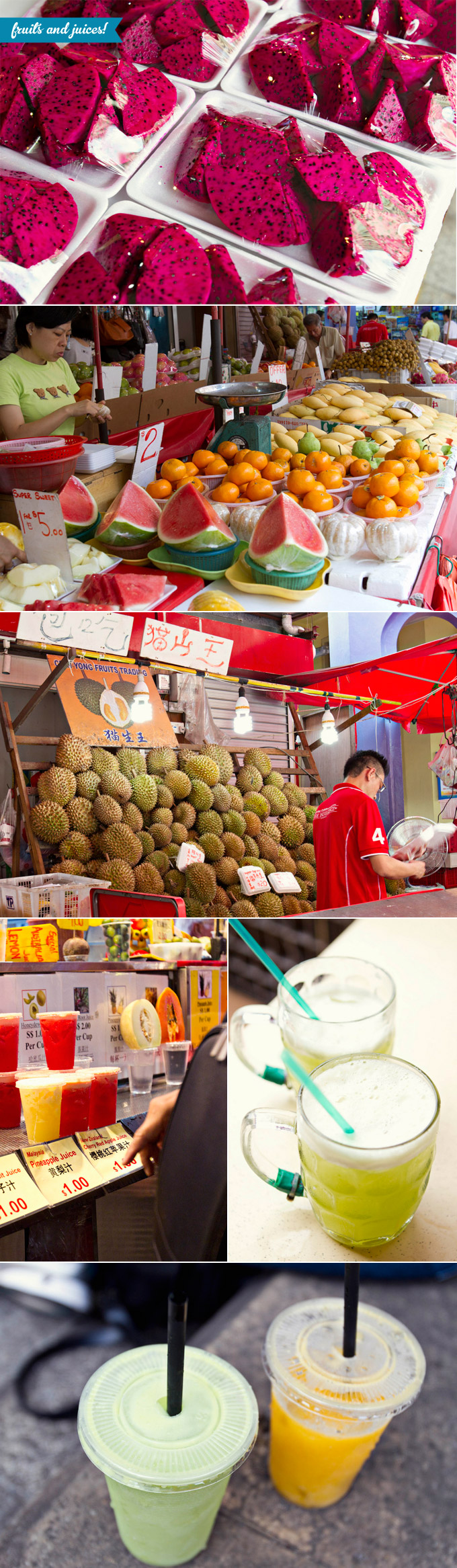 Fruits and juices in Singapore
