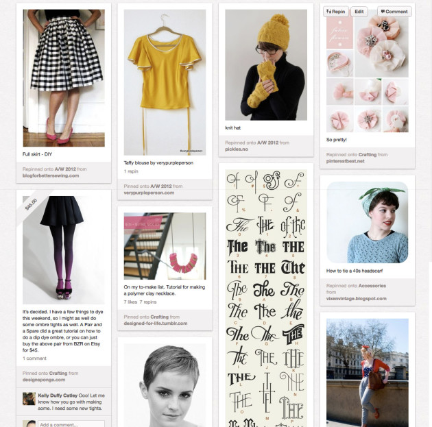 Pinterest - recent pins by Chisa