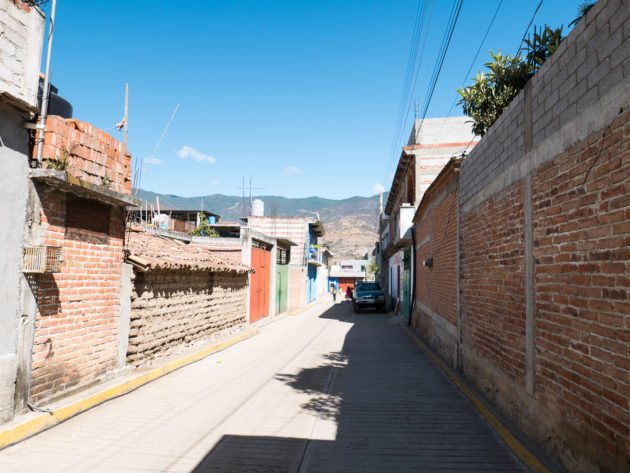 Village streets in Oaxaca
