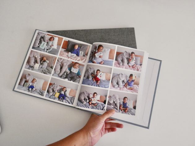 Photo book I printed of Felix's first year
