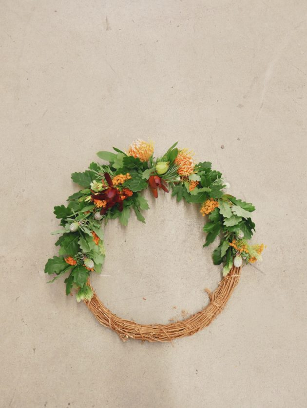 Photo of my completed wreath